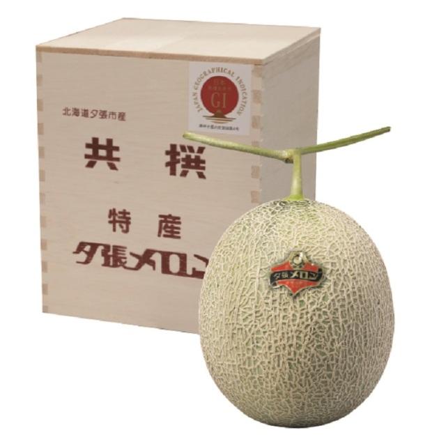 夕張メロン木箱入 1玉入(1玉/約1.6kg) 【特秀品】 【009】