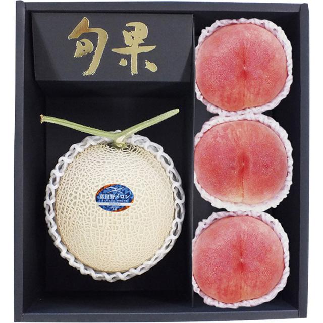 北海道産富良野メロン+山梨産 桃 【050】