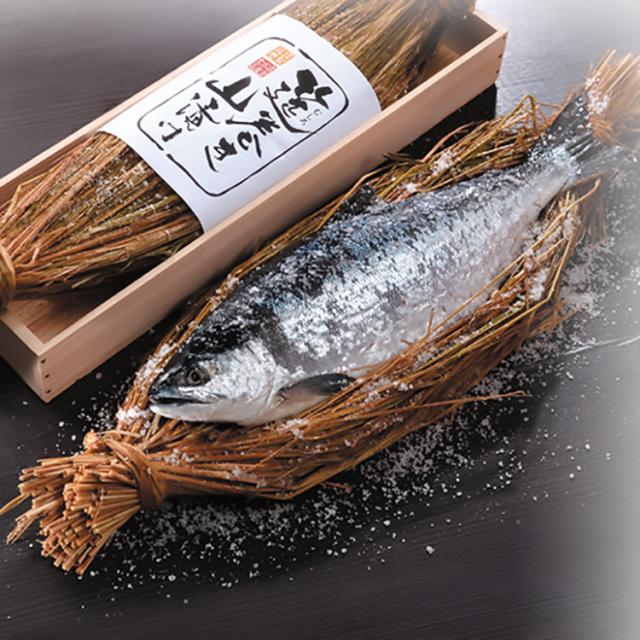 原料原産地名:ロシア 筵巻き山漬け紅鮭(中辛口) 【064】