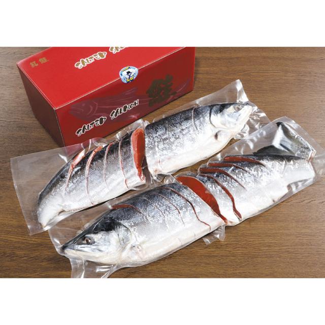 【早期割引】原料原産地名:ロシア 甘口紅鮭 姿切身 【065】