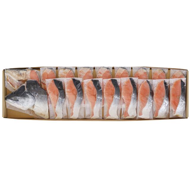 原料原産地名:北海道 塩時鮭姿切身 【071】