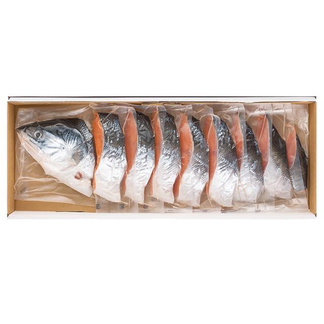 原料原産地名:北海道 塩時鮭姿切身 【072】