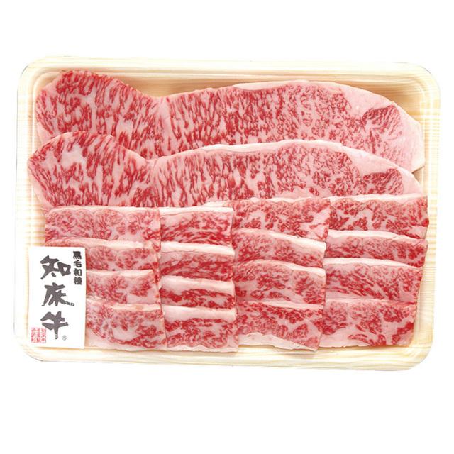 北海道産 知床牛 ステーキ&焼肉セット 【123】