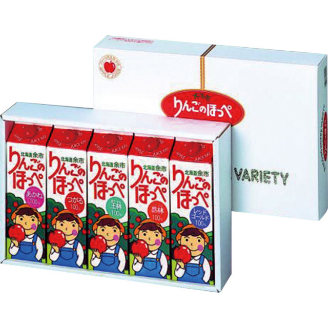 余市農協 りんごのほっぺ バラエティ 5本セット 【353】