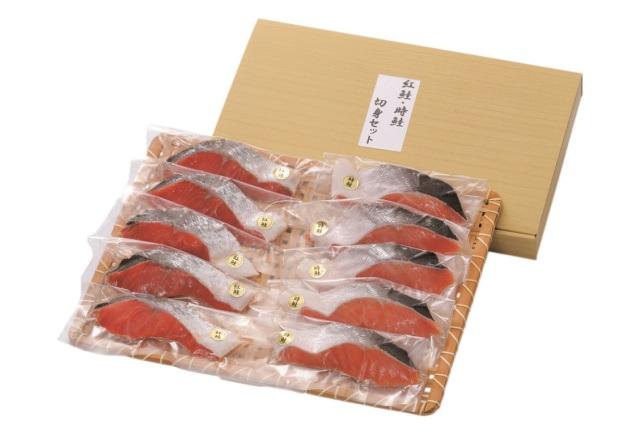 札幌フーズ 原料原産地名:ロシア 紅鮭・時鮭切身セット 【D9911】