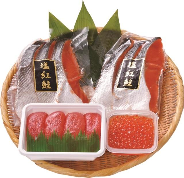 サン食品 紅鮭と魚卵のセット 【D9916】