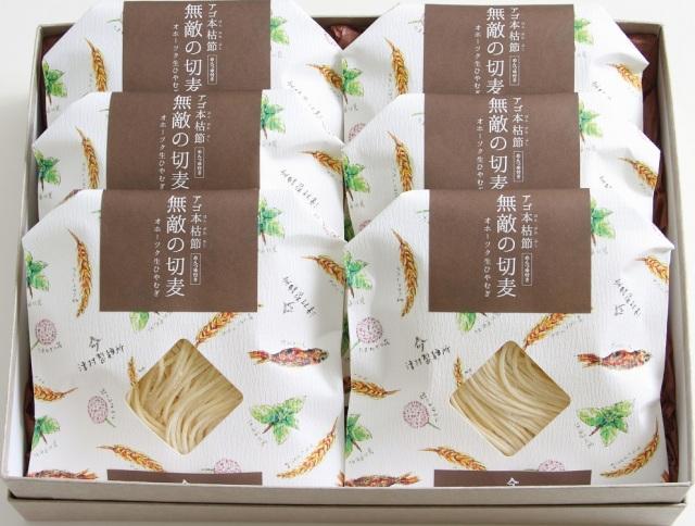 ツムラ アゴ本格節 【無敵の切麦】 オホーツク生ひやむぎ 6食入 【I9901】