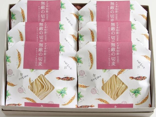ツムラ アゴ本格節 【無敵の切麦】 オホーツク生うどん 6食入 【I9902】