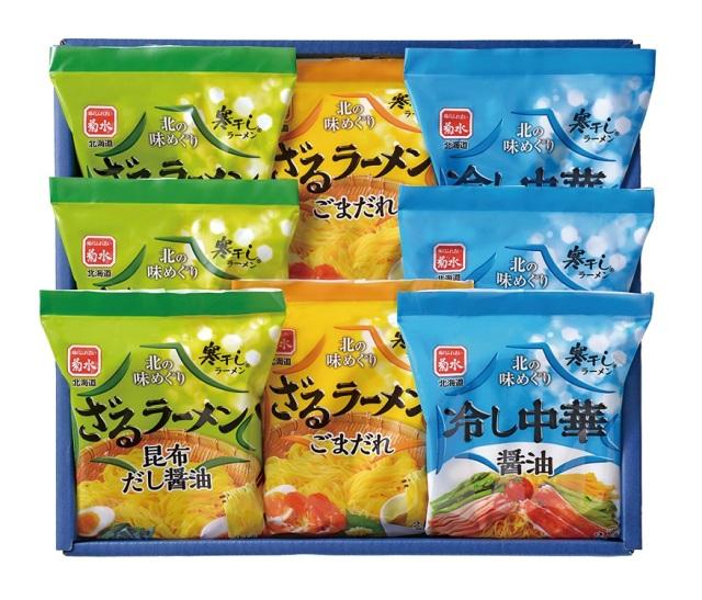 菊水 北の味めぐり 寒干し涼麺 16食詰合せ 【K9942】