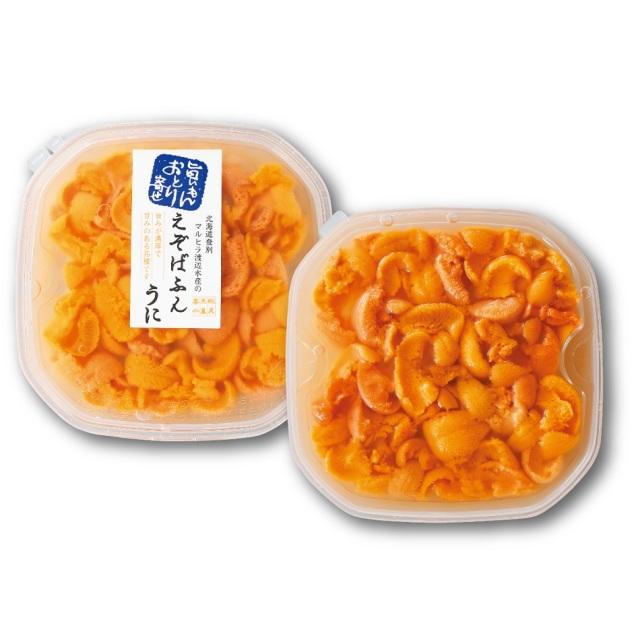 北海道産塩水うに ばふんうに 約100g入×2パック 【D】