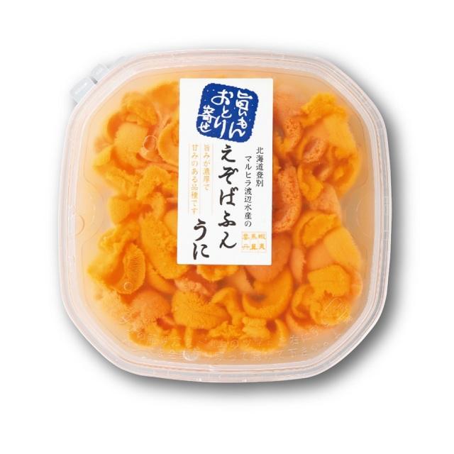北海道産塩水うに ばふんうに 約100g入×1パック 【E】