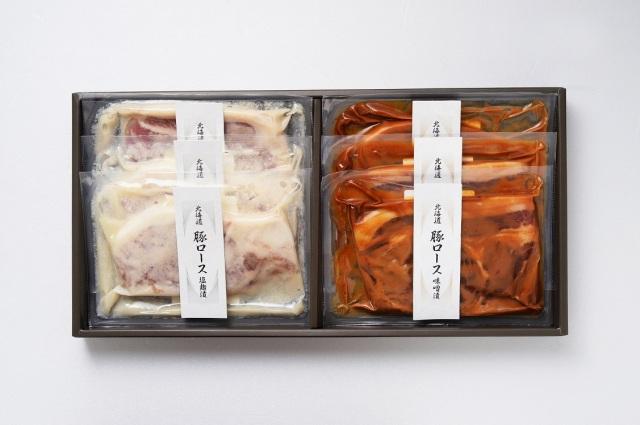 北海道産豚ロース(味噌・塩麹漬け) 【21-102021】
