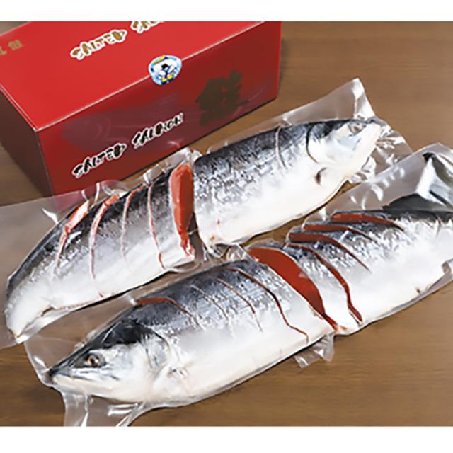 原料原産地名:ロシア 甘口紅鮭 姿切身 【018】