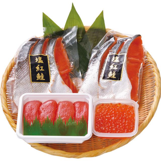 【早期割引】サン食品 紅鮭と魚卵のセット 【023】