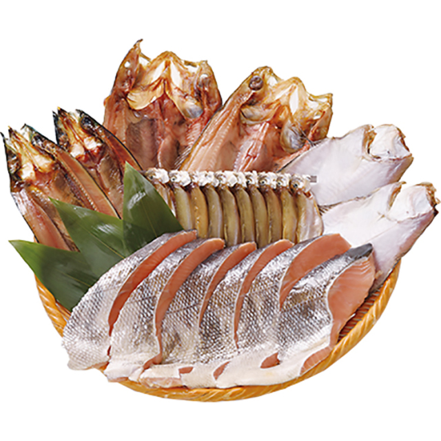 東光ストアオリジナル 干し魚と新巻鮭セット 【071】