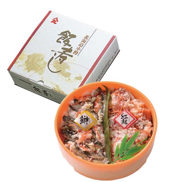 八丸堀内水産食品 紅鮭・はたはた飯寿しセット 【093】