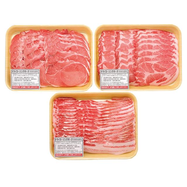 【ドライエージング】 北海道産熟成豚しゃぶしゃぶ詰合せ【145】