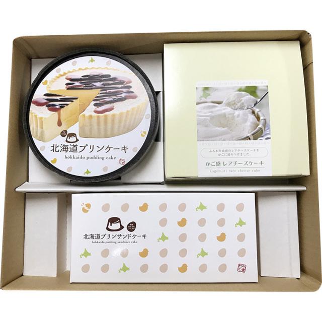 わらく堂 プリンケーキとかご盛のセット 【262】