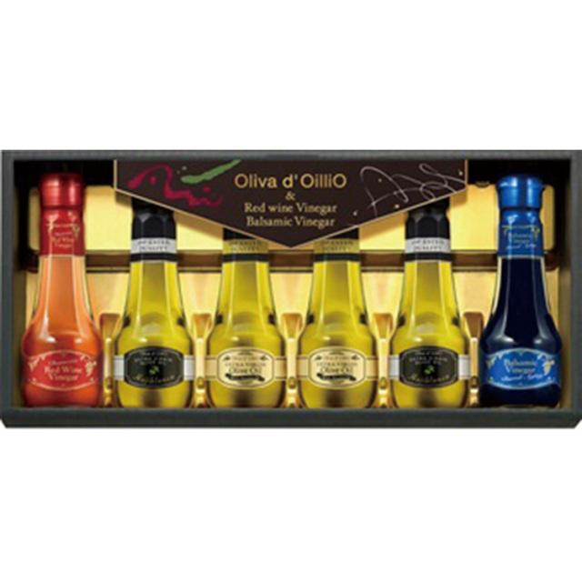 Olivad'OilliO エキストラバージンオリーブオイル&バルサミコ酢&赤ワインビネガーギフト 【448】