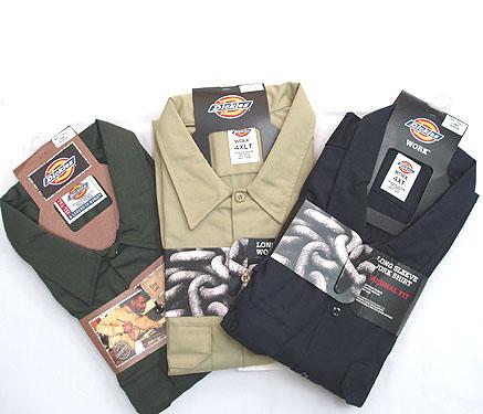 長袖ワークシャツ
