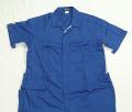 特大 半袖つなぎ服 ブルー