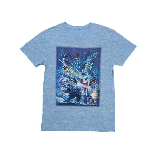 ウルトラマンパワード生頼範義イラストTシャツ(青)(M)