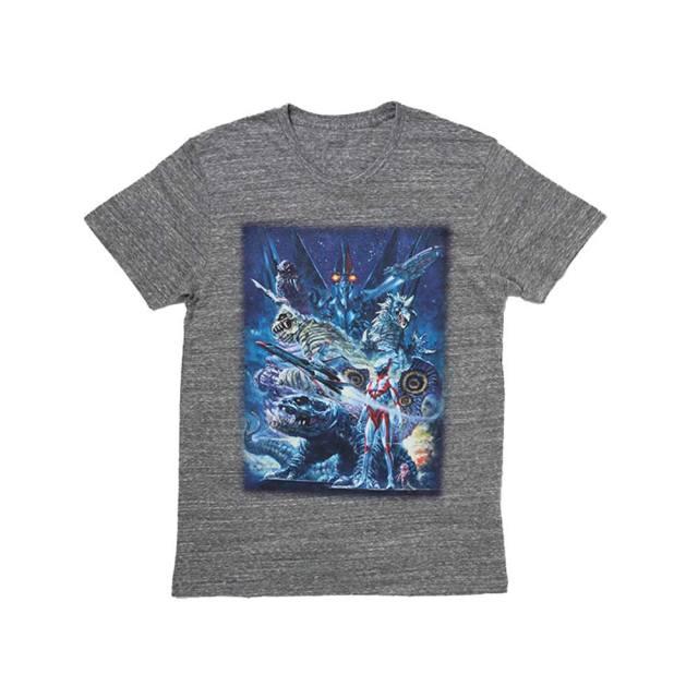 ウルトラマンパワード 生頼範義イラストTシャツ(杢)(XL)