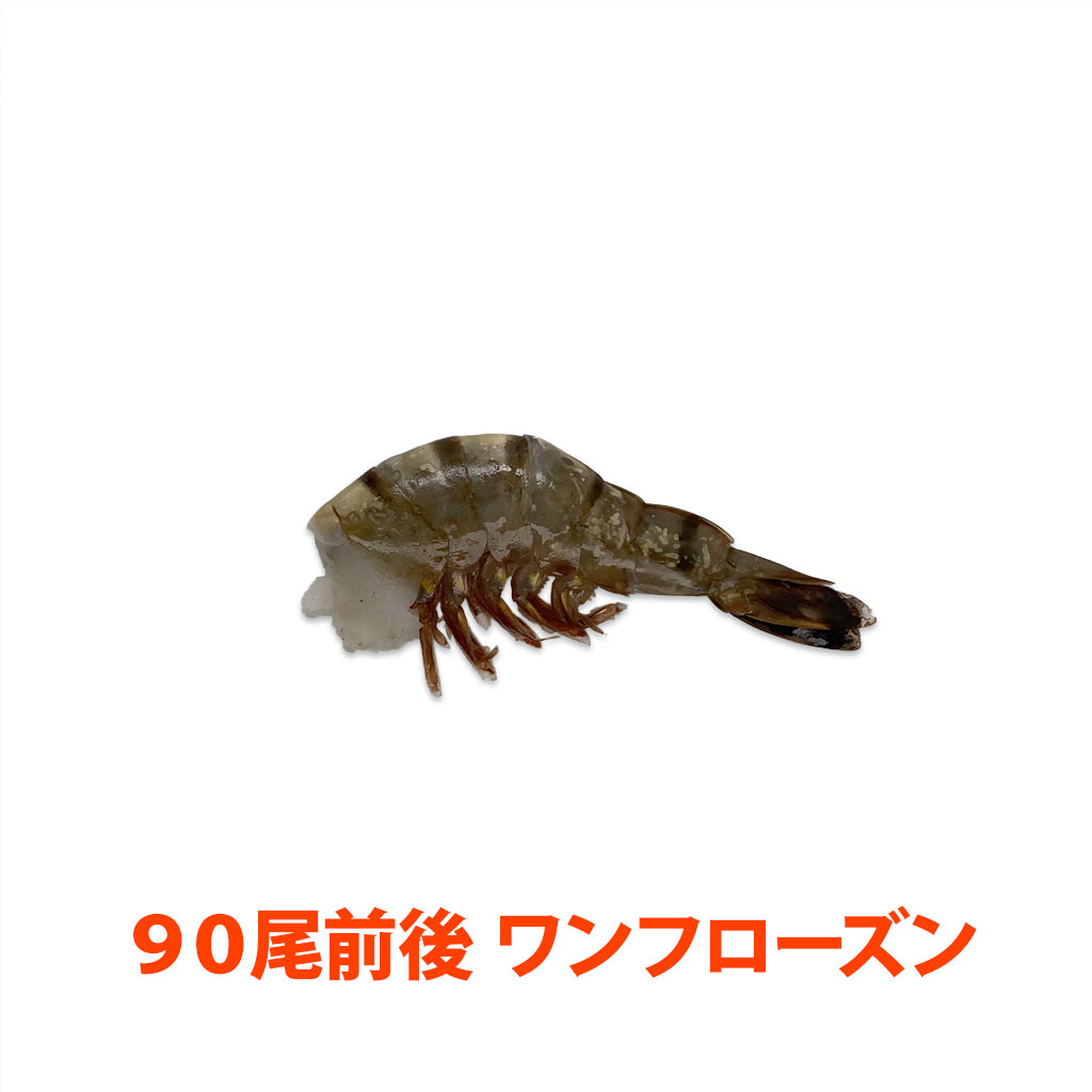 海水養殖ブラックタイガー21/25 ワンフローズン