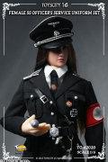 TA733 フィギュア用衣装 ドイツ ナチ党 武装親衛隊 女性将校 制服セット (ブラック TC-62020)