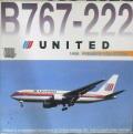 1/400 ユナイテッド航空(UNITED)B767-222/DRAGON