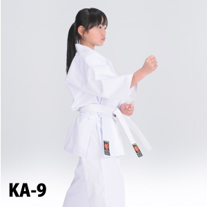 KA-9 初心者・練習用空手衣(白帯付)、薄手、綿100%