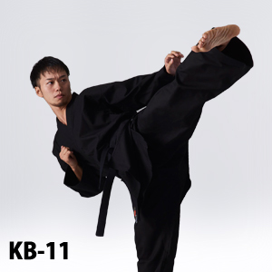 KB-11 黒空手衣、中厚、11号帆布