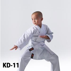 KD-11 初心者・練習用空手衣(白帯付)、中厚、11号帆布