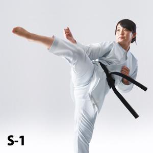 S-1 組手用(ハイウエストタイプ) 空手衣、最軽量・最薄手