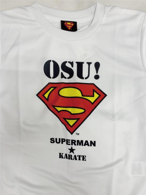 【お得マルシェ】【残り130cmのみ!早いもの勝ち!】SUPERMAN★KARATE Tシャツ
