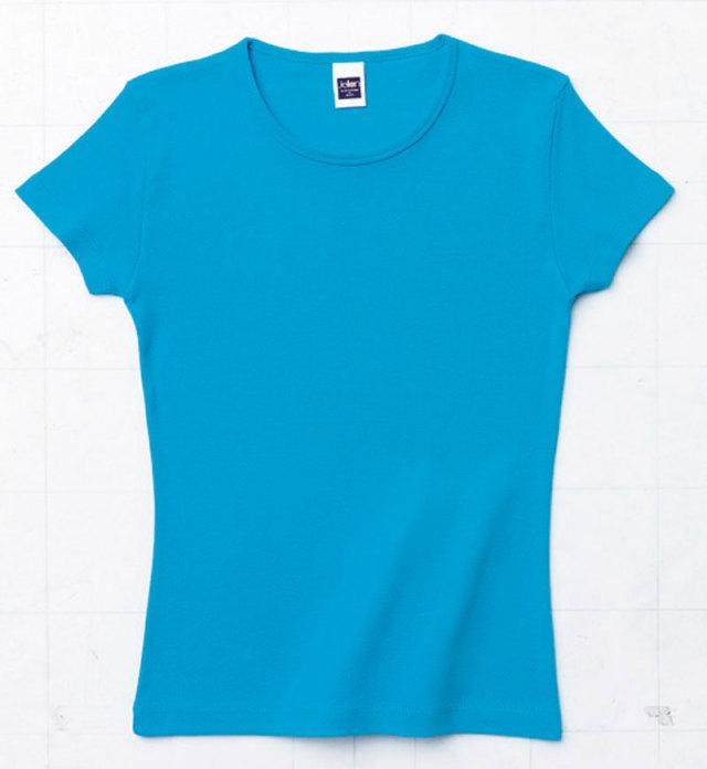 AIMY(トムス) 00160-WCNリブクルーネックTシャツ