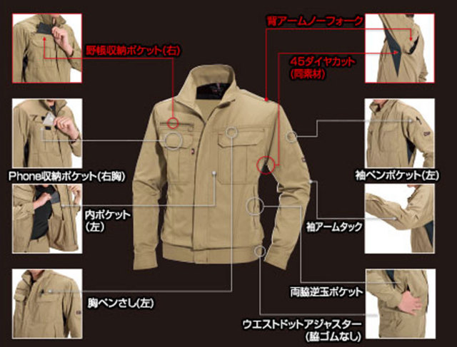BURTLE(バートル) 6091 ジャケット