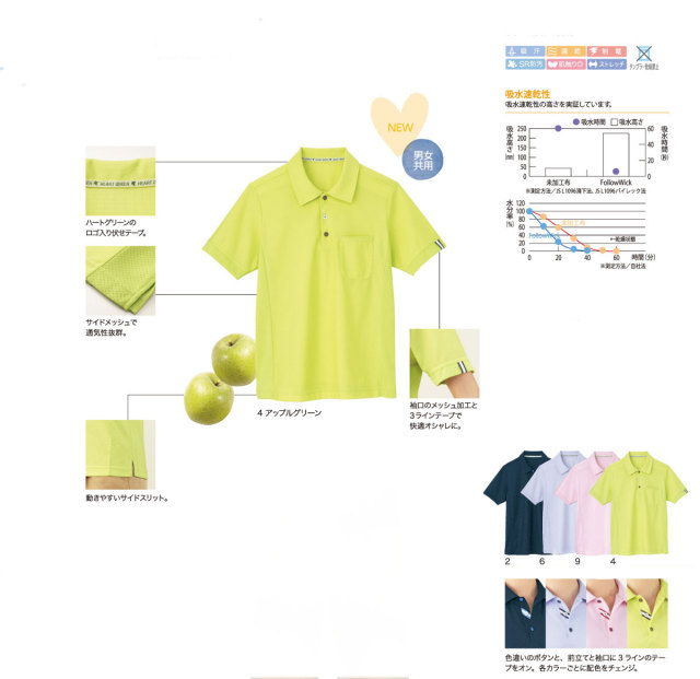 KARSEE(カーシー) HM-2289 半袖ポロシャツ(男女兼用)