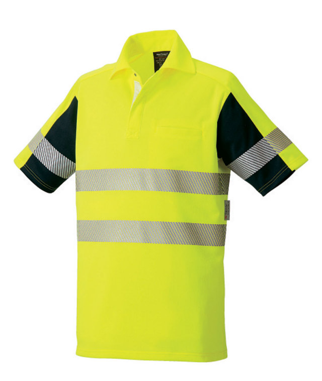 TAKAYA SHOJI(タカヤ商事) TU-NP22高視認性安全半袖ポロシャツ