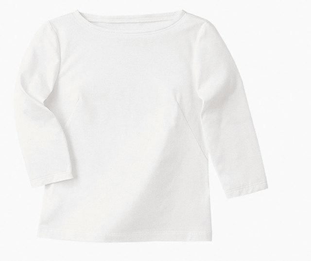 Hanectone(ハネクトーン) WP354 七分袖ポートネックTシャツ