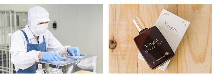 食品の加工、化粧品の製造も自社工場にて対応