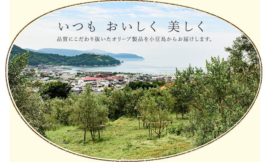 いつも、おいしく、美しく。 品質にこだわり抜いたオリーブ製品を小豆島からお届けします。