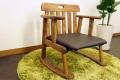 【アルダー無垢材のローチェア】座椅子【木製】ナチュラル ブラウン【完成品】