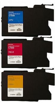 RICOH imagio MPカートリッジ シアン・マゼンタ・イエロー(3色セット)C1500 純正