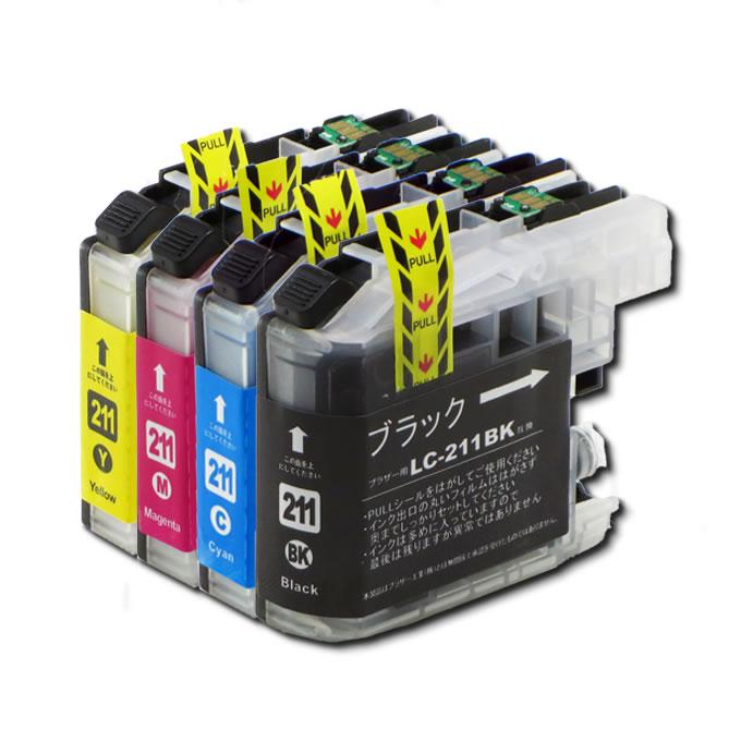 【メール便可】 インクカートリッジ お徳用4色パック LC211-4PK