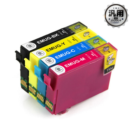 【数量限定】インクカートリッジ マグカップ MUG-4CL 4色パック 汎用品(新品・ノーブランド)