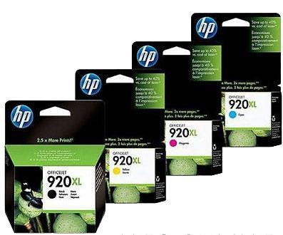 HP ヒューレットパッカード CD972AA~CD975AA インクカートリッジ増量 HP920XL 純正<4色入>