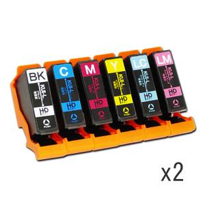 インクカートリッジ クマノミ KUI-6CL-L 6色パック増量 汎用品