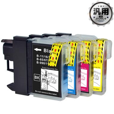 【数量限定】インクカートリッジ LC11/16-4PK (大容量) 汎用品(新品・ノーブランド)<4色入>