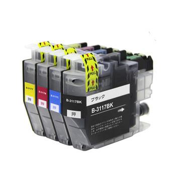 【数量限定】インクカートリッジ お徳用4色パック LC3117 汎用品(新品・ノーブランド)<よりどり 4個入>